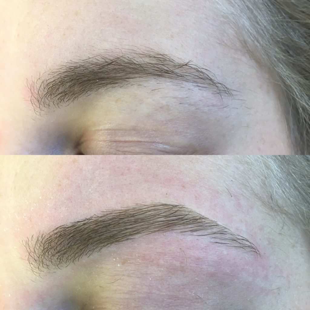 eyebrow threading before & after